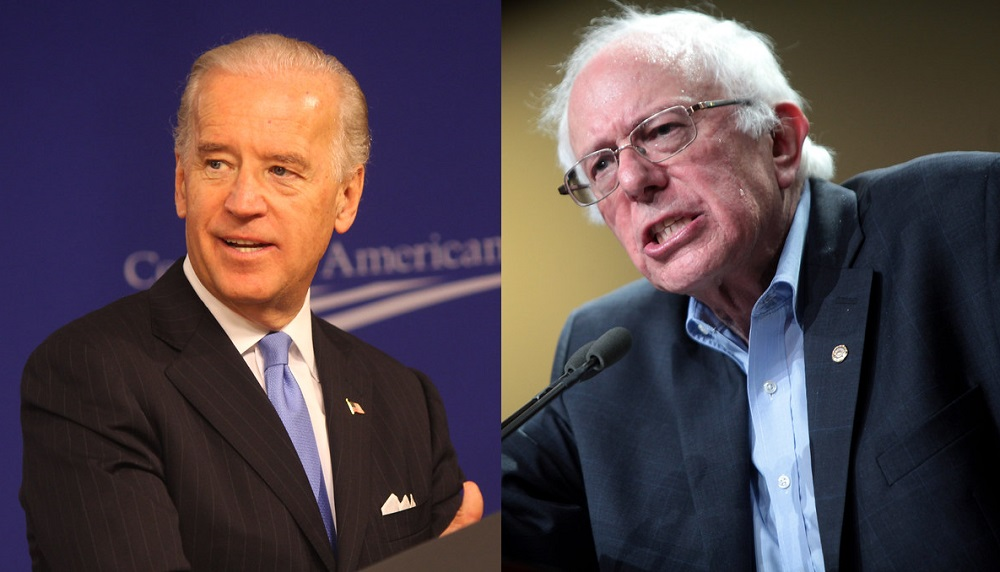 Photo of Joe Biden from Center For American Progress / Photo of Bernie Sanders by Gage Skidmore.